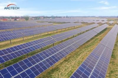Imagen del proyecto de 575MW ubicado en la ciudad de Nangong, provincia de Hebei, China (PRNewsfoto/Arctech)