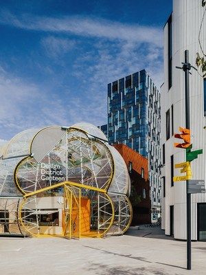 Design District on Greenwich Peninsula, London's first permanent, purpose-built hub for the creative industries, conceived and developed by Knight Dragon, and designed by eight leading architects. Credit: TARAN WILKHU
